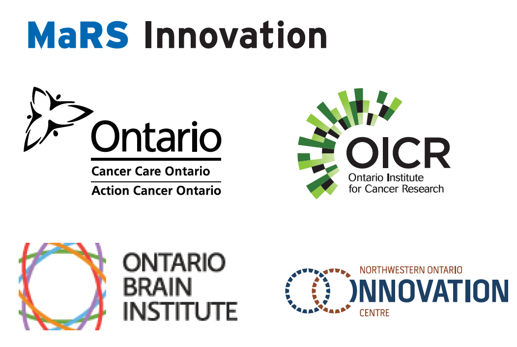 MaRS Innovation, Cancer Care Ontario, Ontario Institute for Cancer Research, Ontario Brain Institute, Northwestern Ontario Innovation Centre