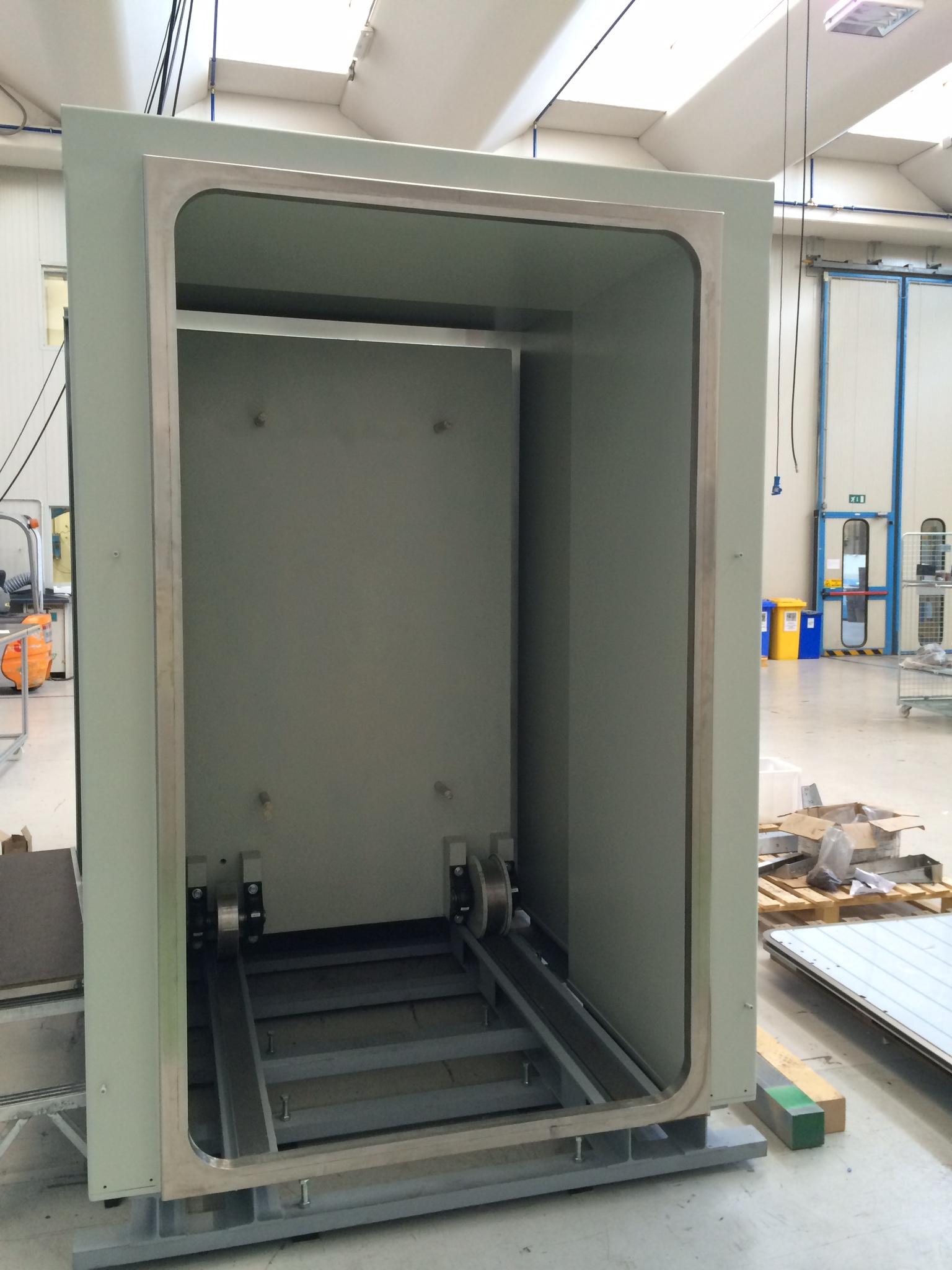 Bunker door at factory in Italy