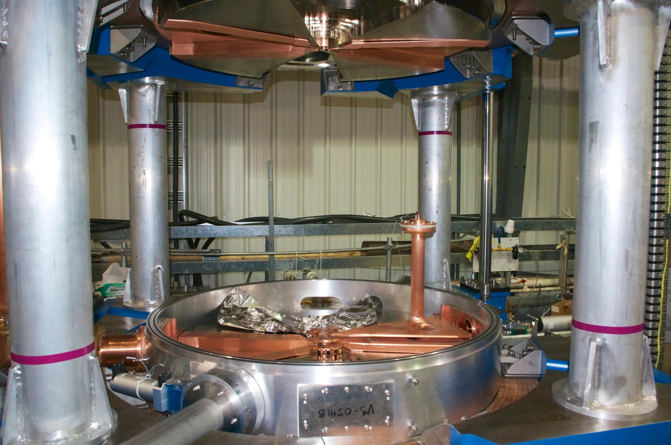 Cyclotron under construction