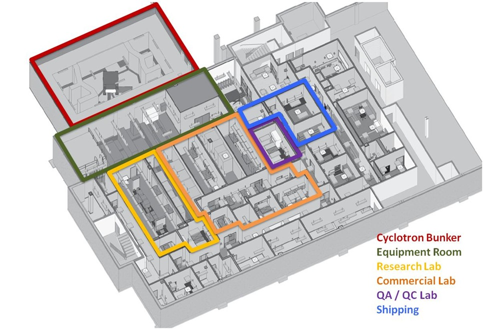 Floor plan of facility