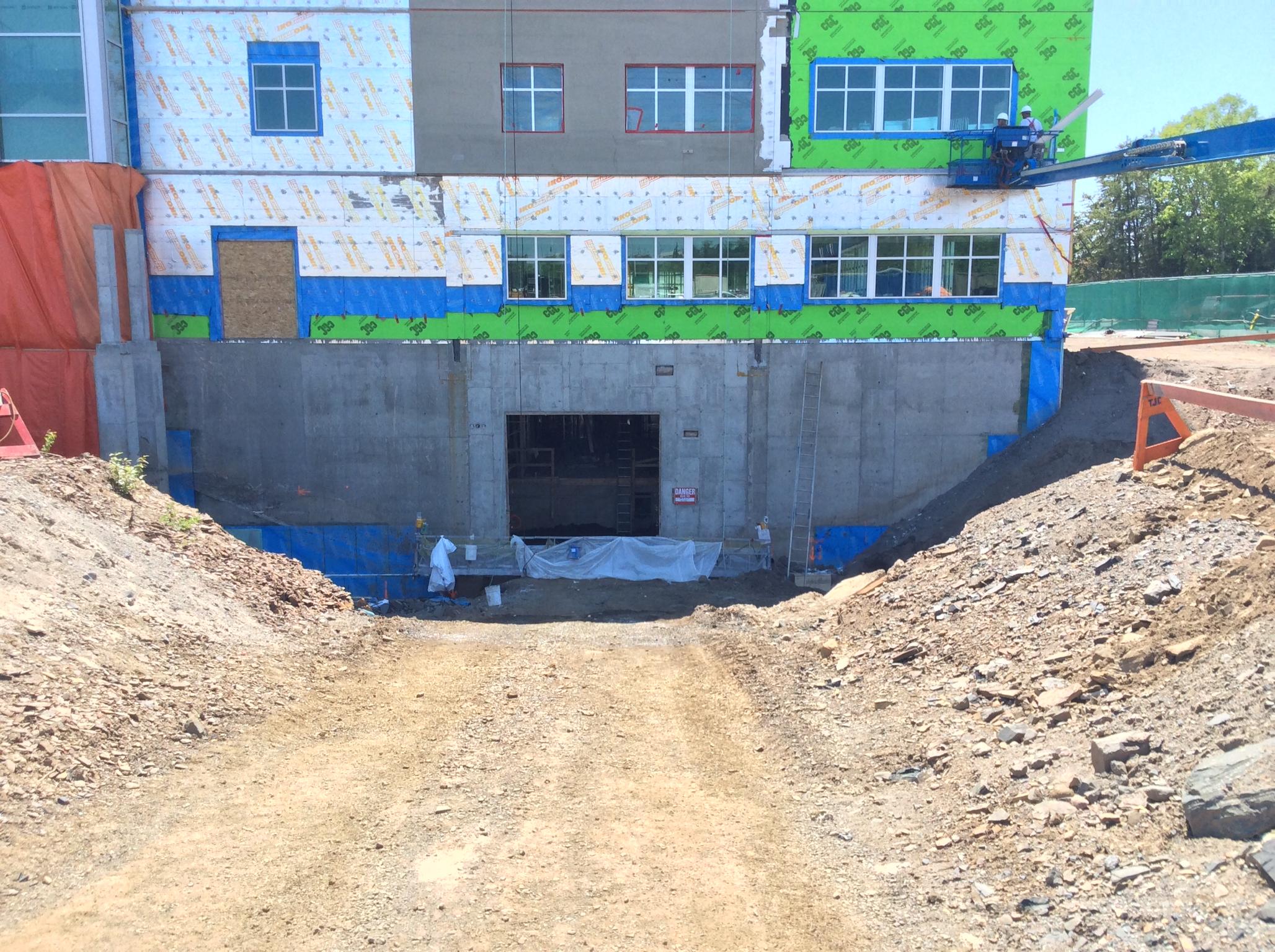 Looking toward bunker space