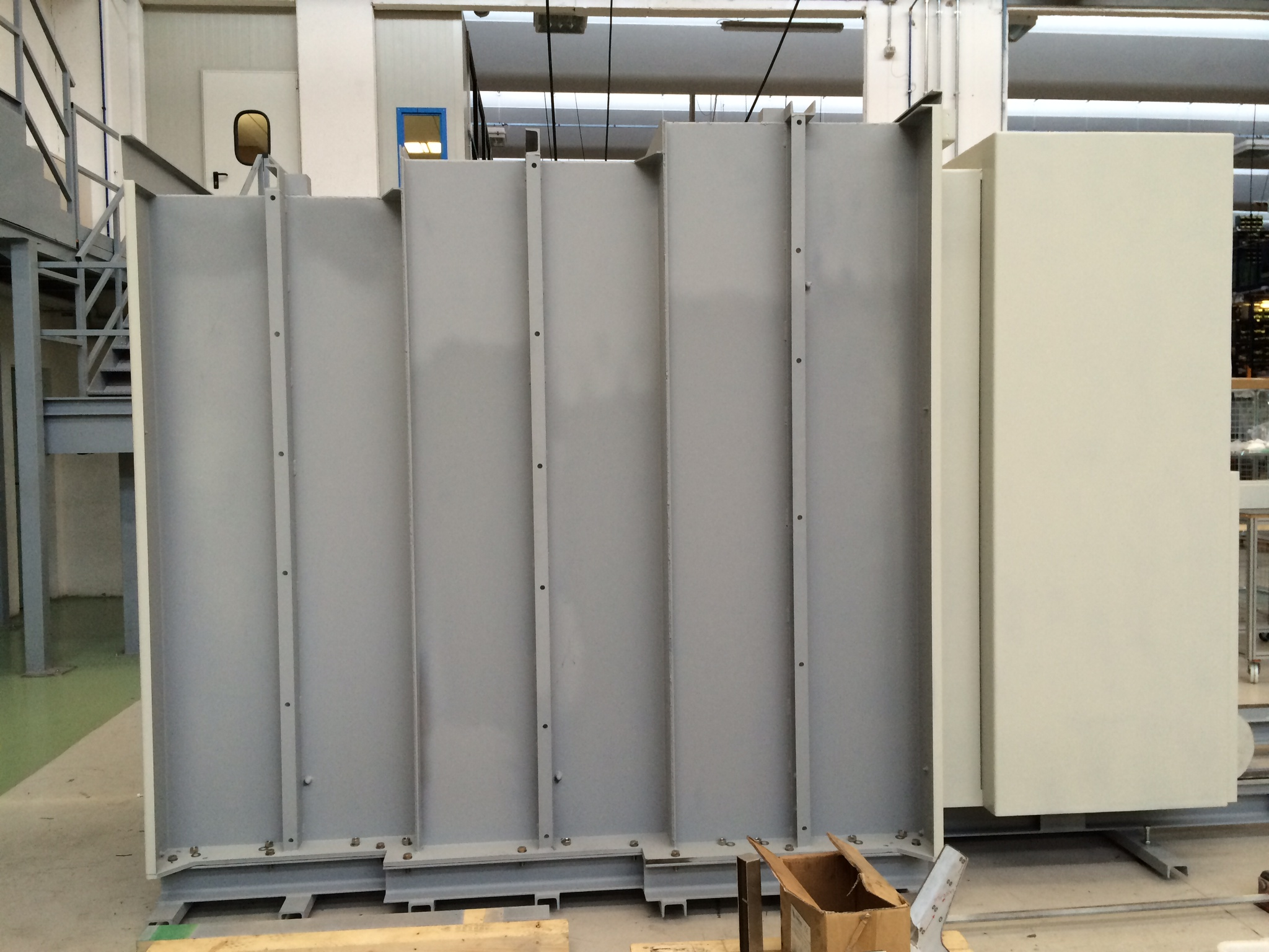 Bunker door frame at factory in Italy
