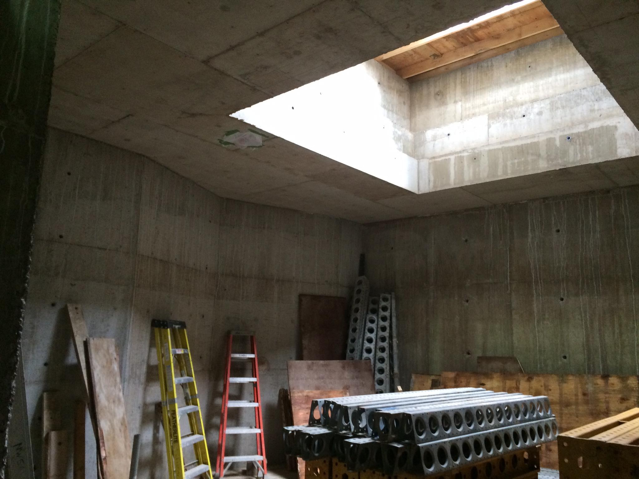 Bunker under construction