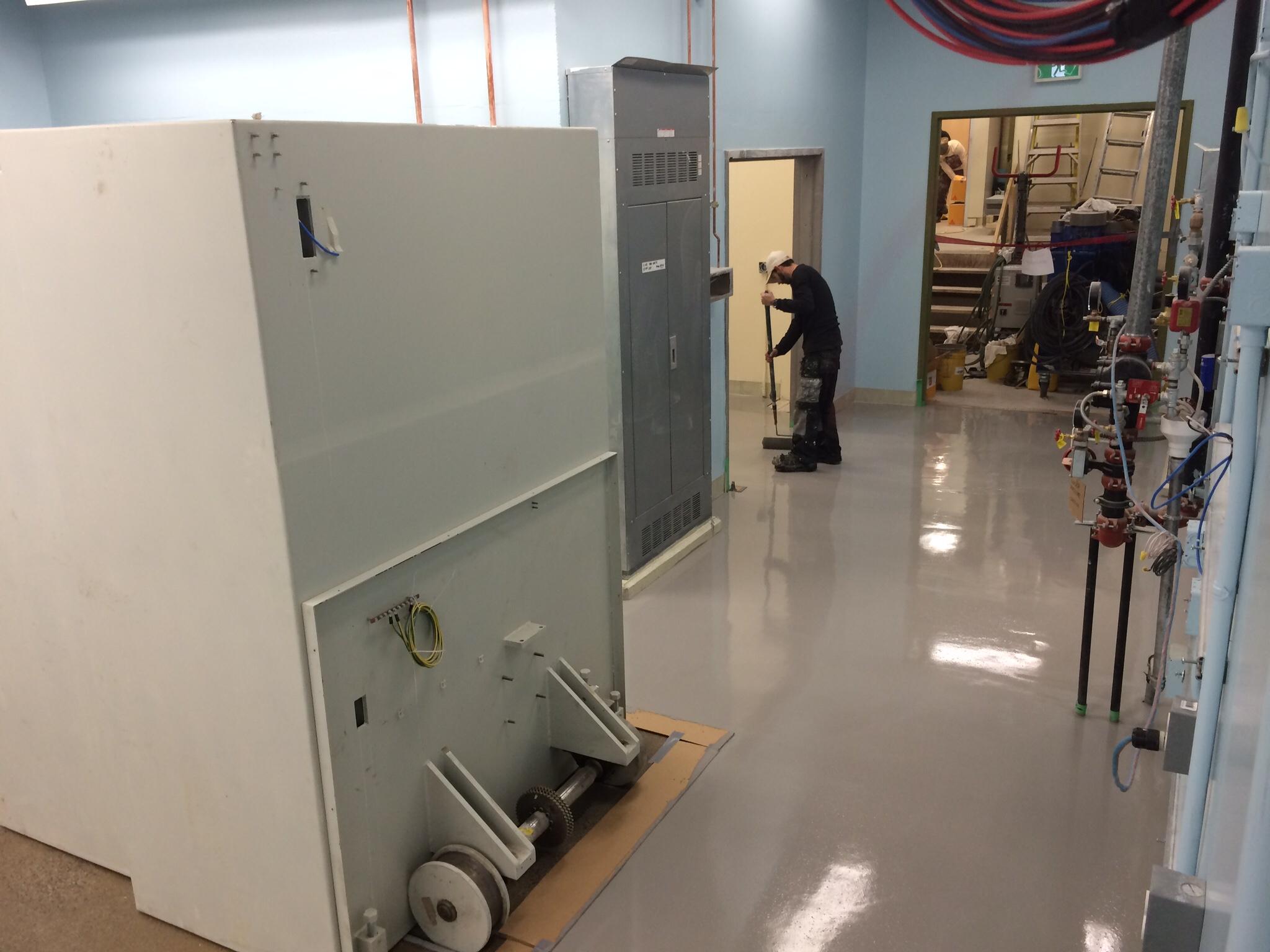Painting Equipment Room floor