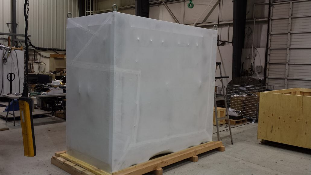 Cyclotron equipment ready to ship