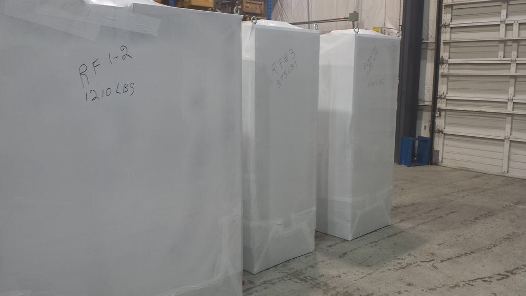 RF electrical cabinets ready to ship