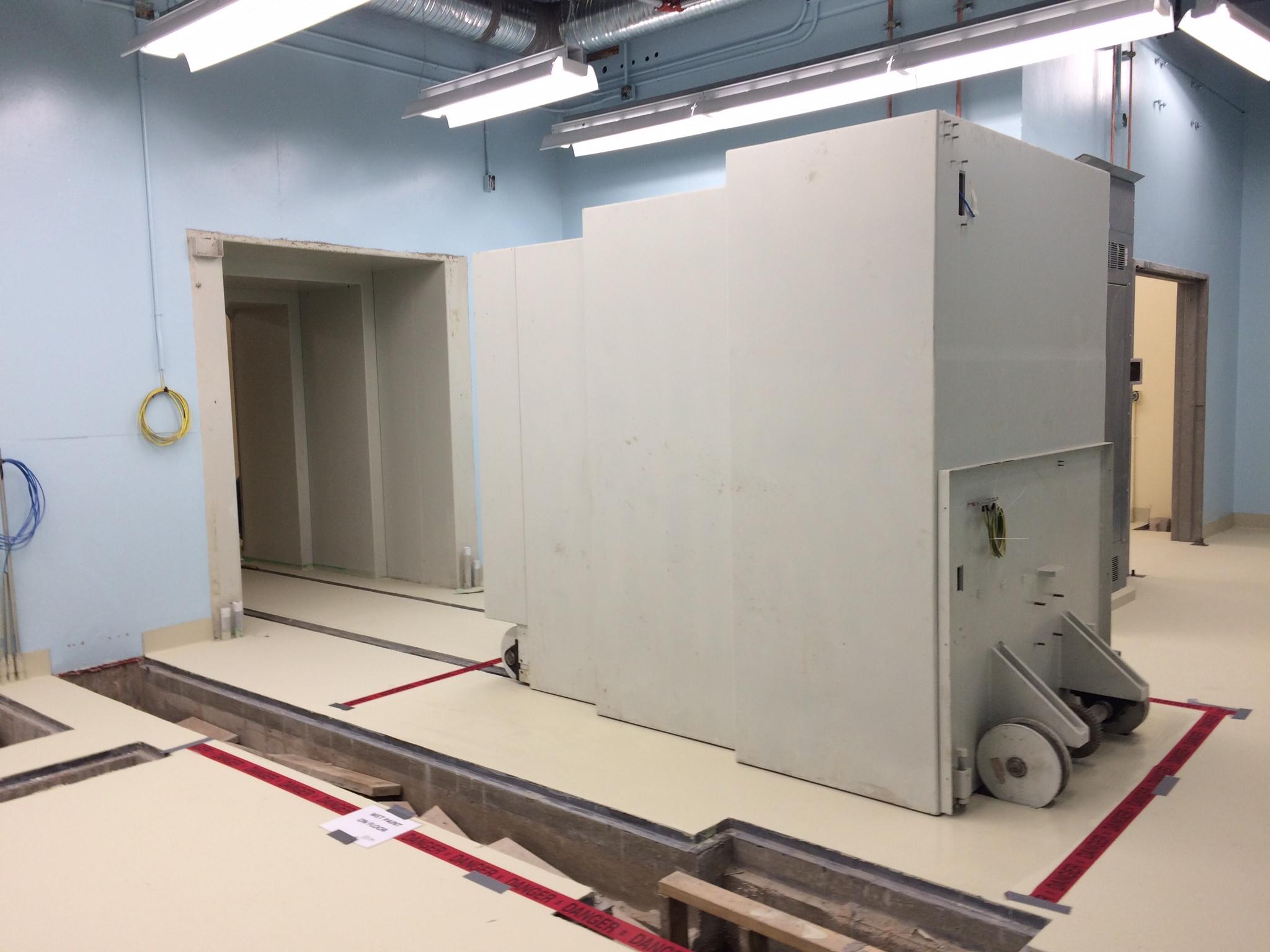 Installation of bunker door