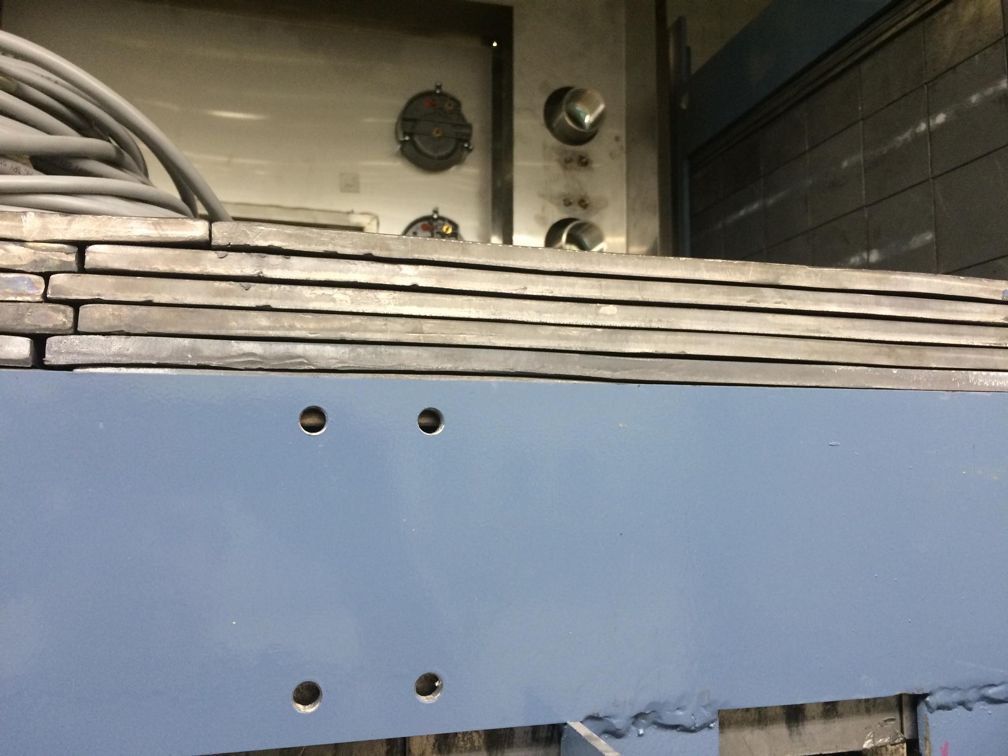 Lead brick shielding