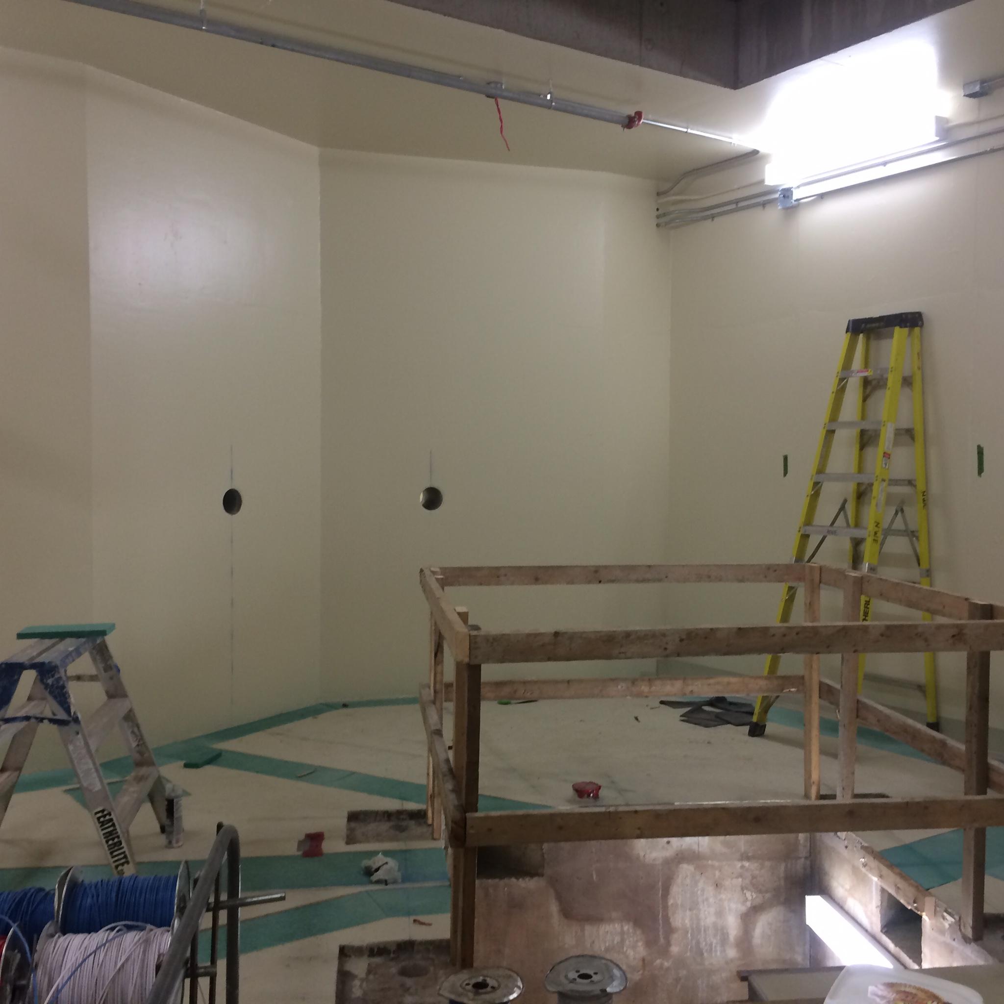 Inside bunker construction