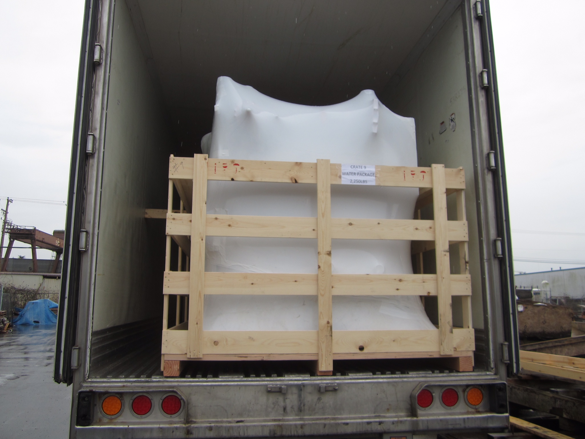Arrival of cyclotron equipment
