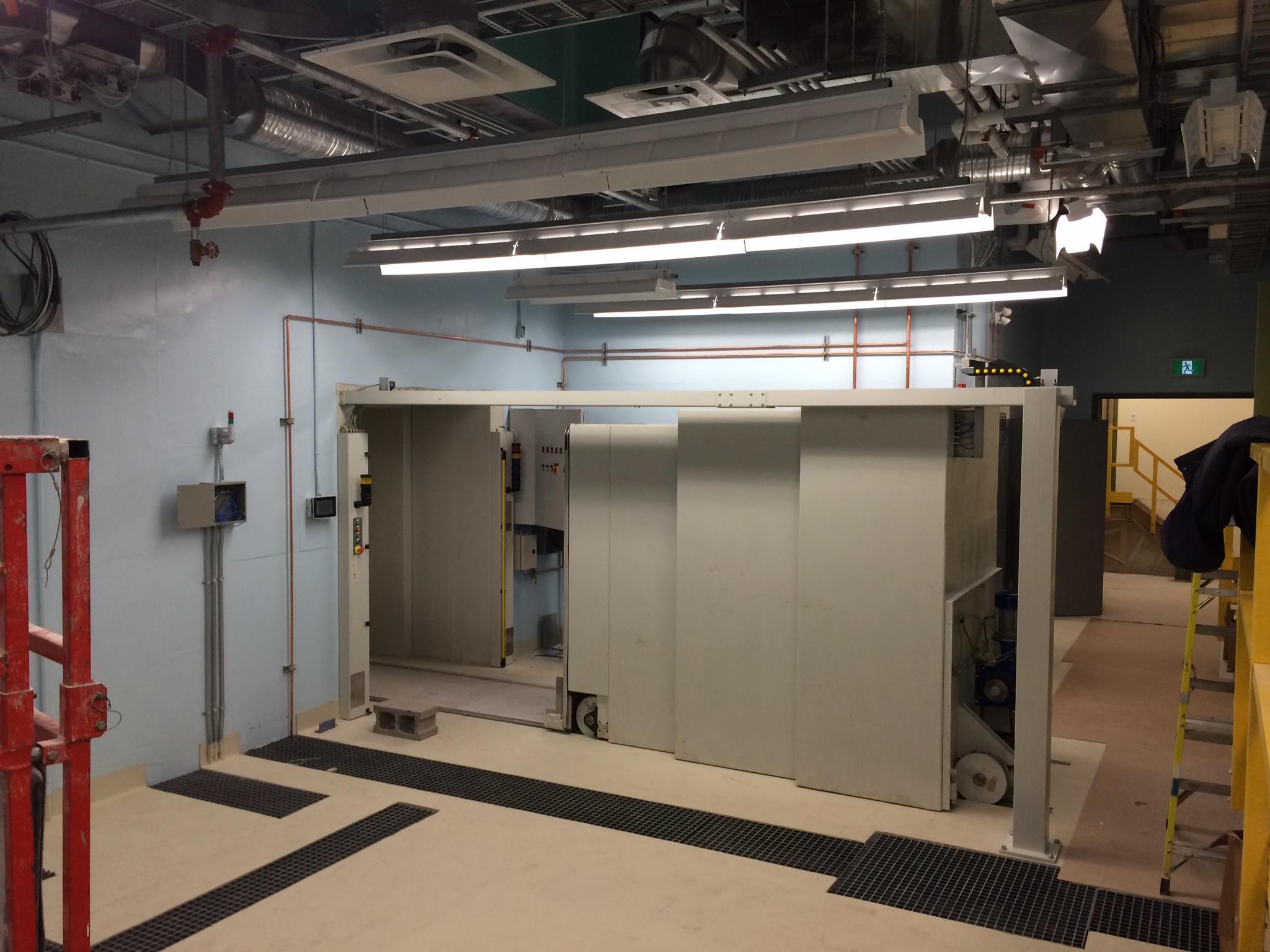 Bunker door system installed