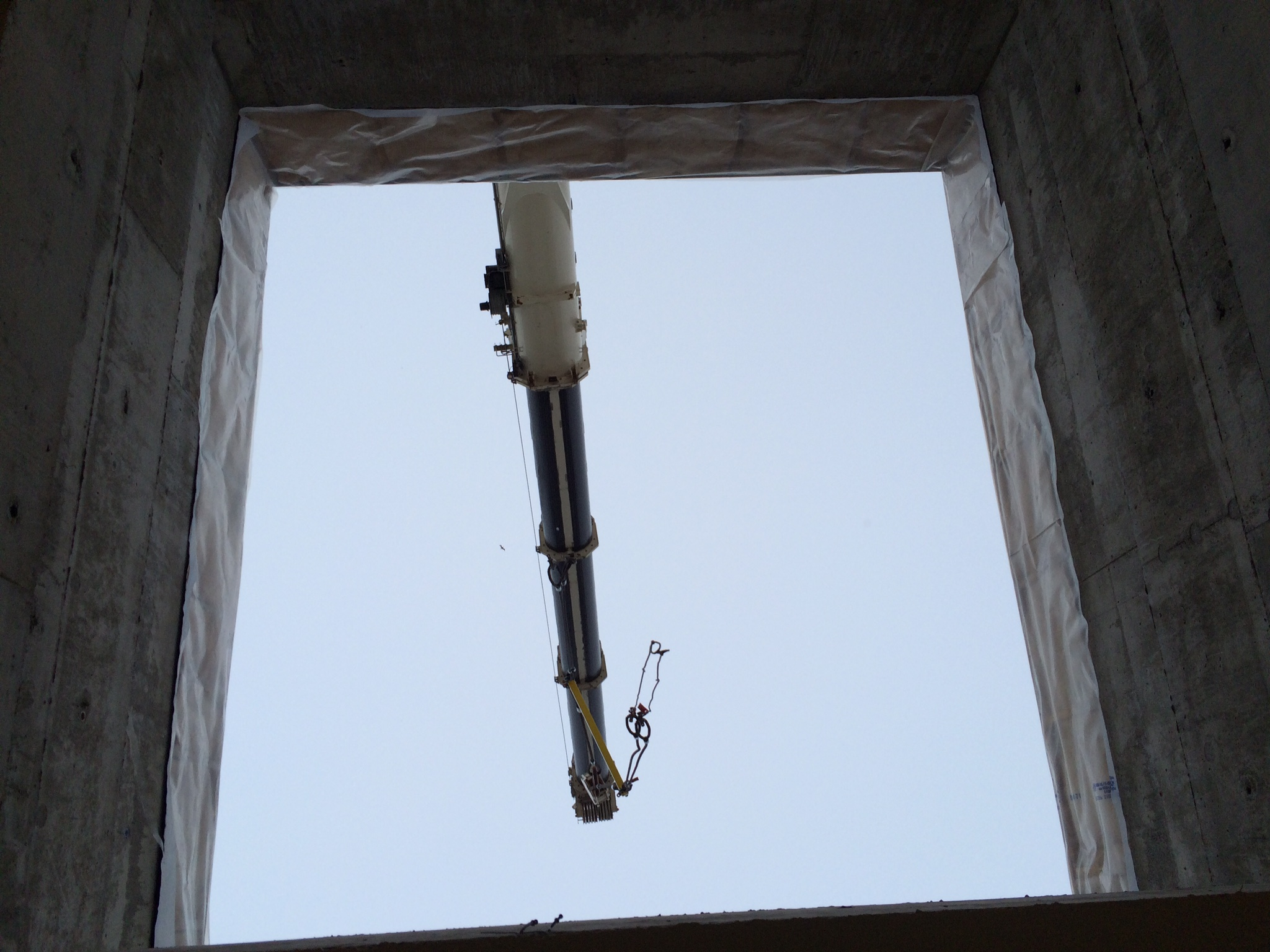 View through ceiling hole