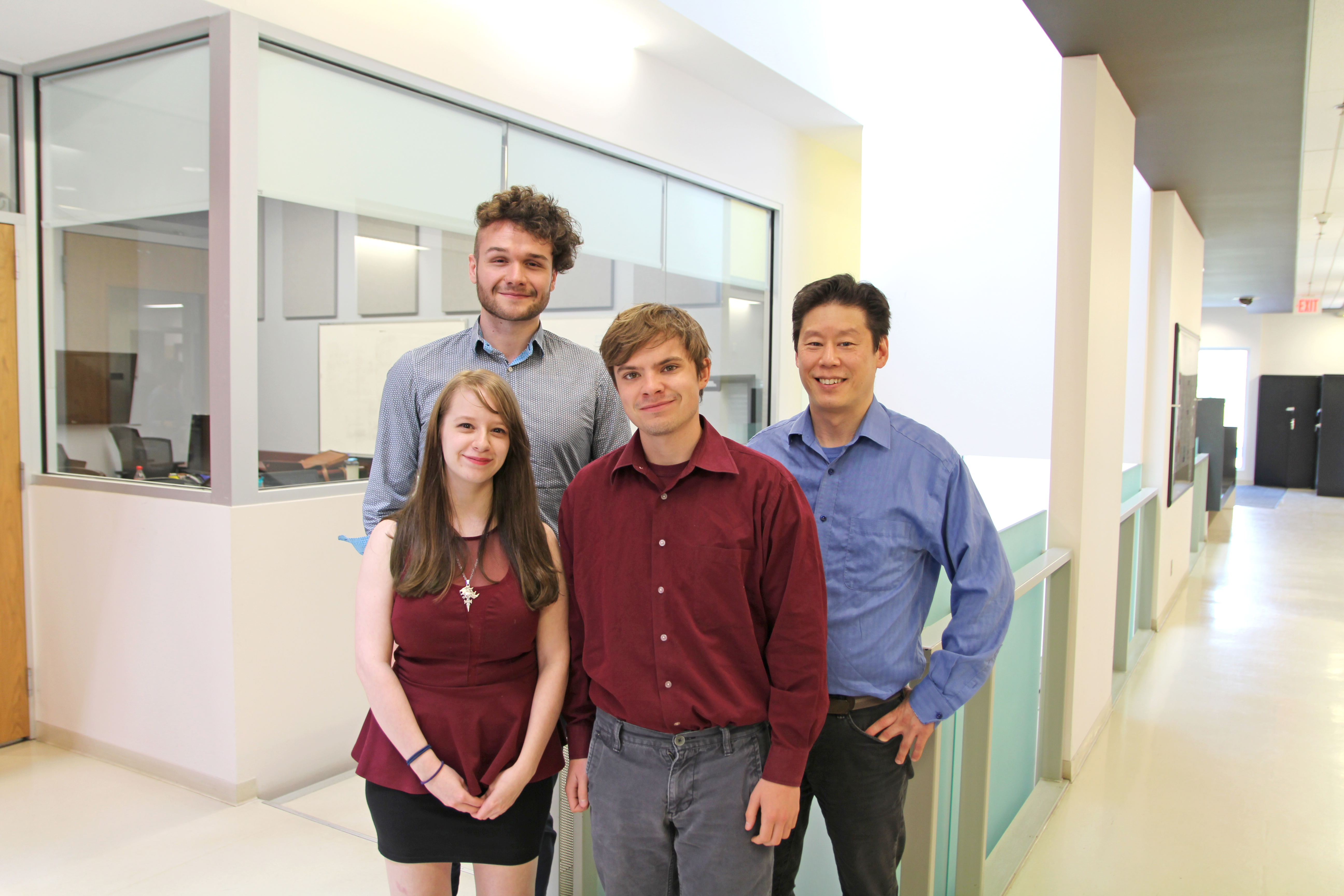 (L-R) James McCormick, Lisa Ewen, Connor Little and Dr. Arnold Kim.